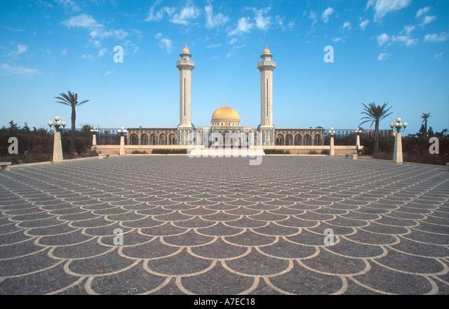 Monastir Tunesien Nordafrika Blick auf Bourguiba-Mausoleum Stockbild
