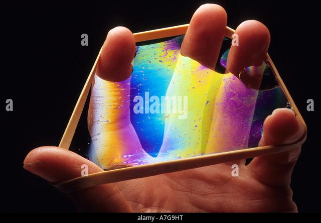 Hand-Rainbow 2 Stockbild
