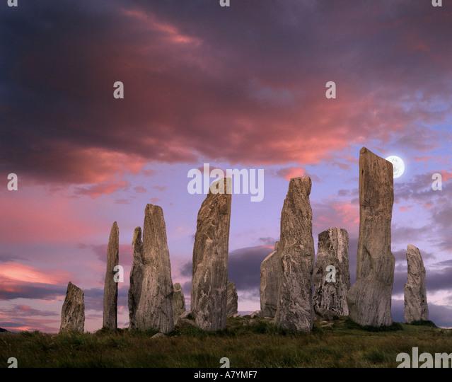 GB - äußere Hebriden: Callanish Standing Stones auf der Insel Lewis Stockbild