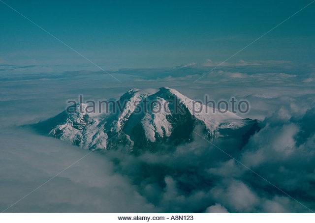 ECUADOR Anden Cotopaxi Provinz Cotopaxi Vulkan aus der Luft Stockbild