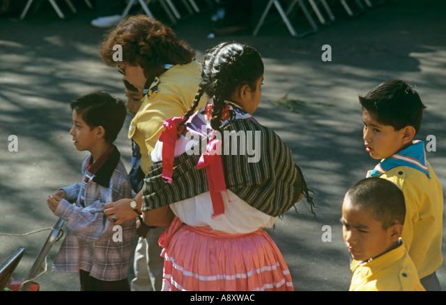Eine Mischung von Kulturen und Stilen in Oaxaca, Mexiko Stockbild