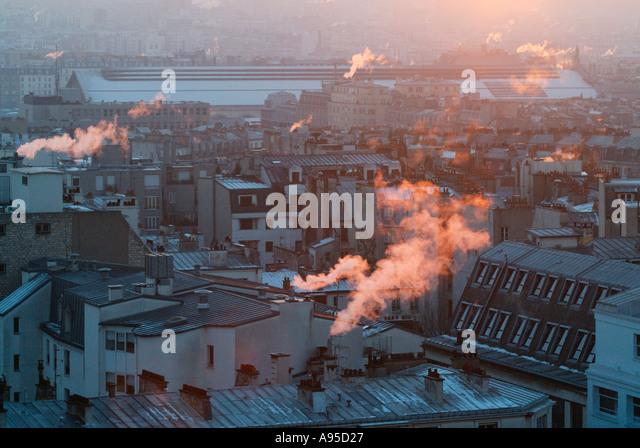 Dächer von Paris Stockbild