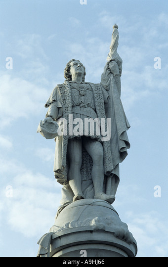 Christopher Columbus-Statue in Puerto Rico Stockbild