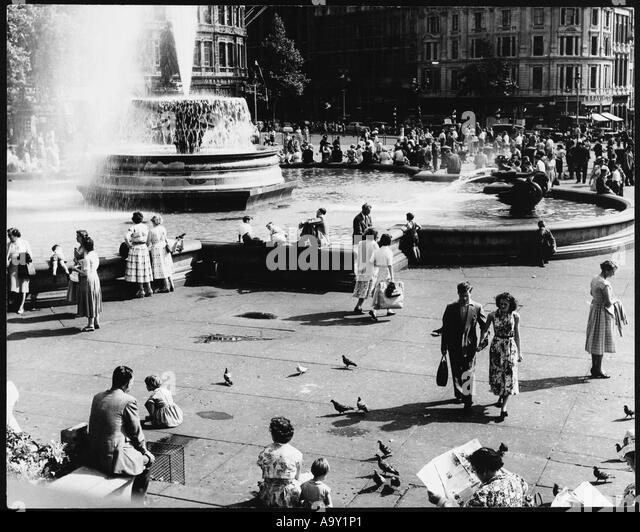 Sozialszene 50er Jahre Stockbild