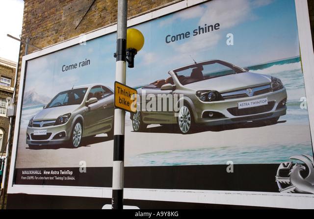 car advertising hoarding stockfotos car advertising. Black Bedroom Furniture Sets. Home Design Ideas