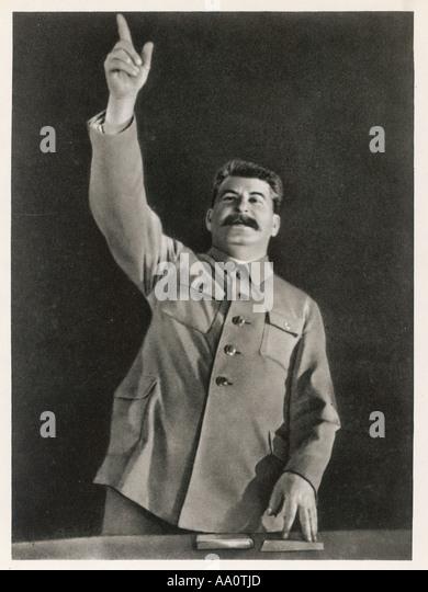 Stalin Orating Stockbild