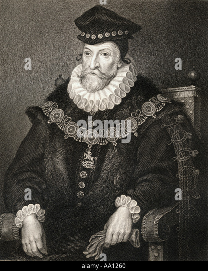 EDWARD CLINTON 1512 1584 Earl of Lincoln Stockbild