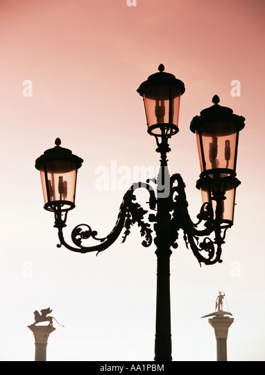 Venezianischen Laternen Stockbild