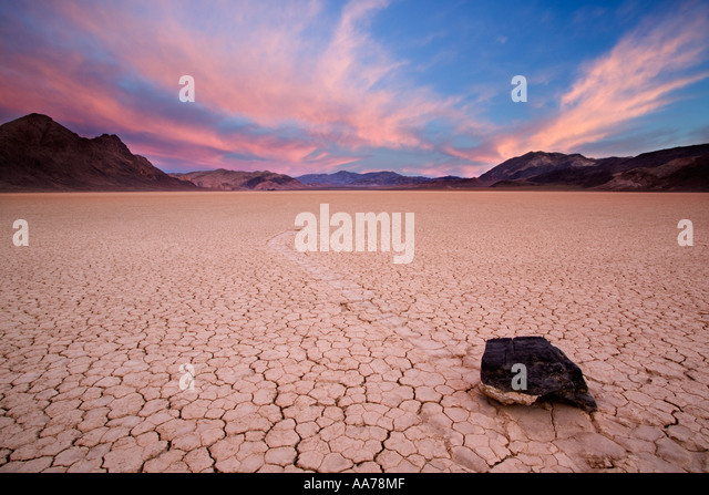 Racetrack Playa Death Valley Nationalpark Stockbild