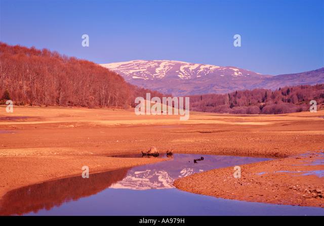 Landschaft aus Mavrovo Region Mazedonien Stockbild