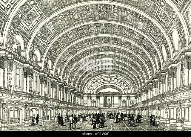 Peoples Palace London U K 1887 eröffnete die Queen s Halle durch Her Majesty London Stockbild
