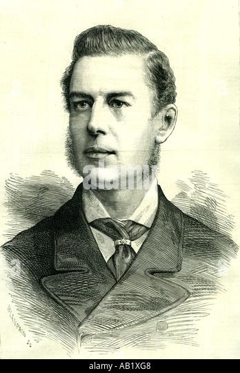 Joseph Chamberlain 1885 U K liberale Staatsmann Attracking viel Aufmerksamkeit geboren 1836 Stockbild