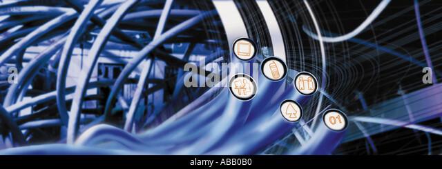 Kabelverbindungen Stockbild