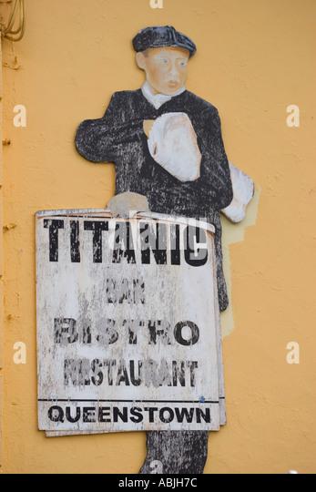 Titanic Bar Restaurant Zeichen Cobh Cork Irland Stockbild