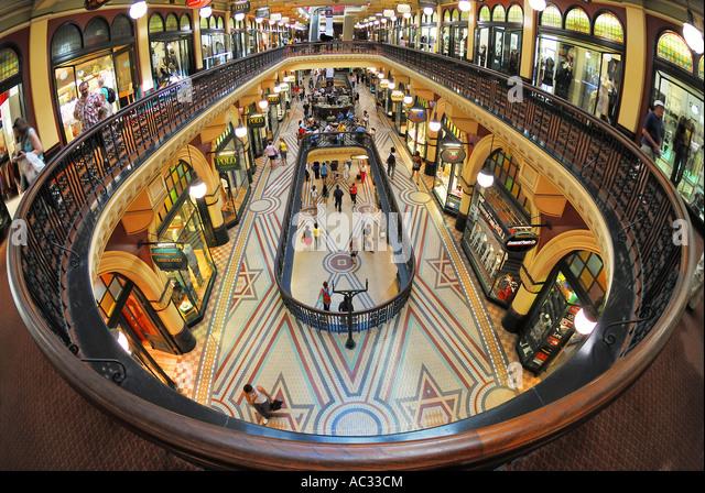 Innere des Queen Victoria Building, Australien, New South Wales, Sydney Stockbild