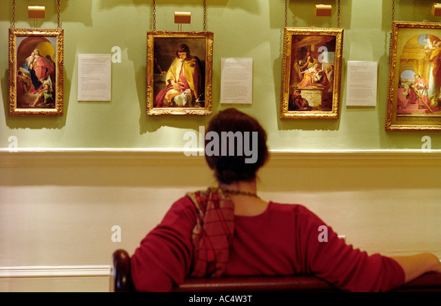 Courtauld Institut der Kunst Hermitage Zimmer Somerset House in London Stockbild