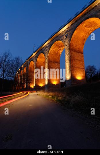 Viadukt Altenbeken bei Paderborn-Nordrhein-Westfalen-Deutschland Stockbild