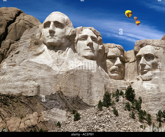 USA - SOUTH DAKOTA: Mount Rushmore National Memorial Stockbild