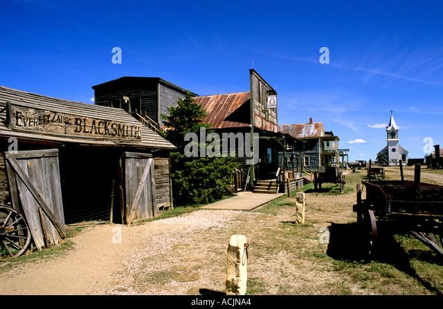 der 1800er Geisterstadt in Murdo South Dakota verwendet in vielen Filmen Stockbild
