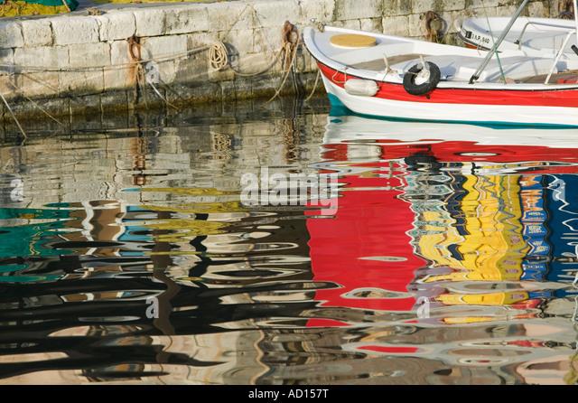 Venezianische Hafen, Rethymno, Kreta, Griechenland Stockbild