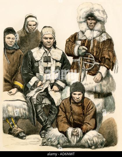 Nomaden der nördlichen Regionen Russlands 1800er Jahren Stockbild