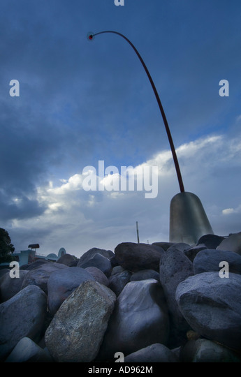 Wind-Stab in New Plymouth Taranaki New Zealand Stockbild