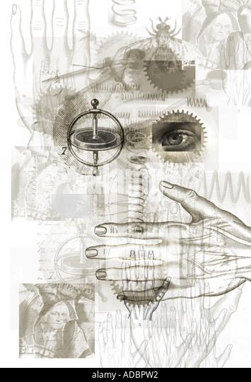 Entdeckung-Wissenschaft und Geist Stockbild