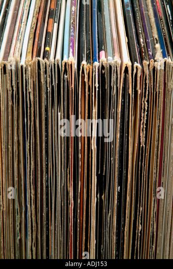 Schallplattenhüllen Stockbild