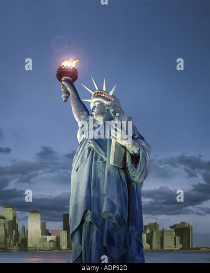 USA - NEW YORK: Freiheitsstatue Stockbild