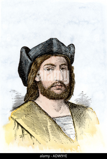 Christopher Columbus Porträt Stockbild