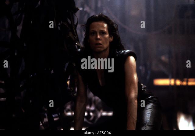 ALIEN Auferstehung 1997 Film mit Sigourney Weaver als Ripley Stockbild