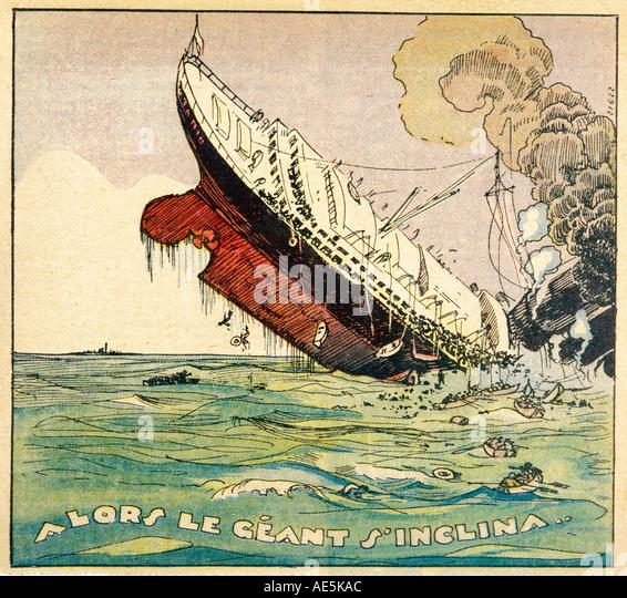 Schiffswrack Titanic Stockbild