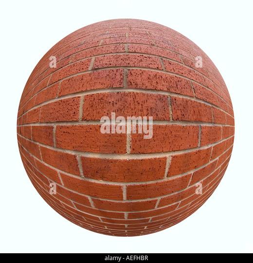 Mauer mit einem fisheye-Objektiv aufgenommen Stockbild