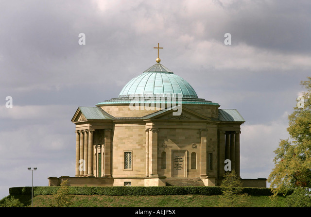 Kapelle Stuttgart Rotenberg. Bauen Sie im Jahr 1821 für Katharina, Stuttgart, Baden-Württemberg, Deutschland Stockbild