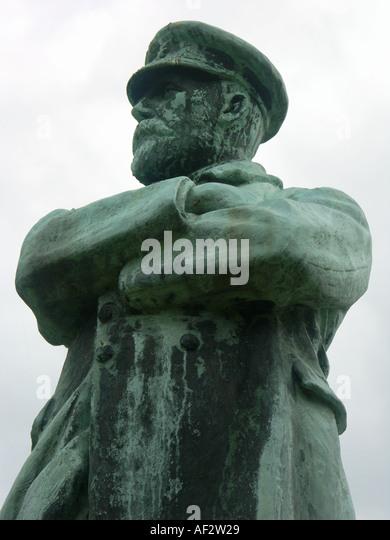 Statue von Kapitän Smith in Lichfield Kapitän der Titanic Stockbild