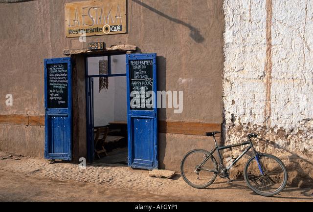 Straßenbild in San Pedro de Atacama, Chile Stockbild