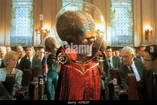 MARS-Attacken - 1996 Warner film Stockbild