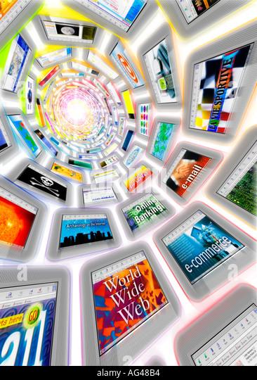 Internet-Infinity Stockbild