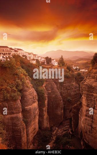 Ronda, Andalusien, Spanien Stockbild