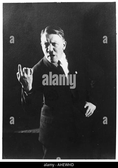 Hitler gibt den Finger Stockbild