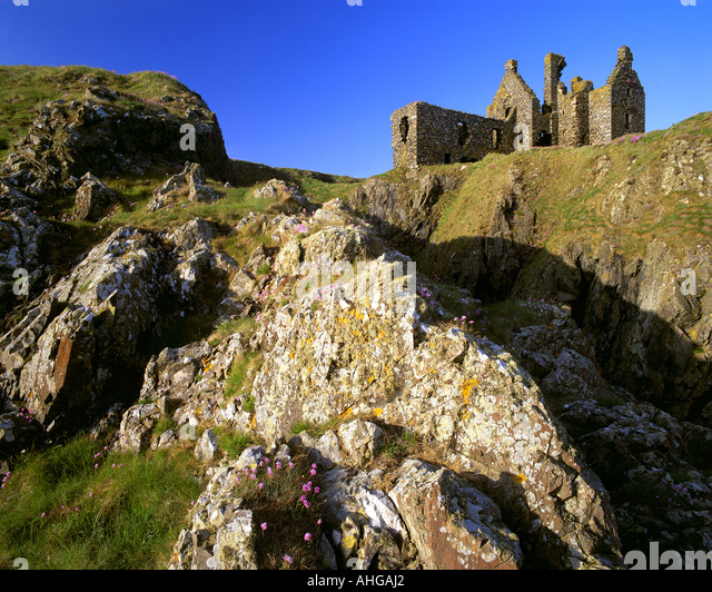GB - Schottland: Dunskey Castle in Dumfries & Galloway Stockbild