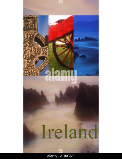 TRAVEL CONCEPT: Republik Irland (Eire) Stockbild