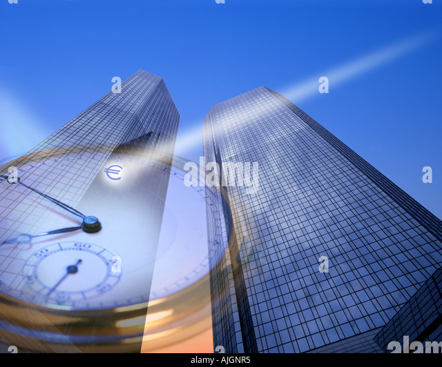 DE - HESSEN: Deutsche Bank Hauptsitz in Frankfurt am Main Stockbild
