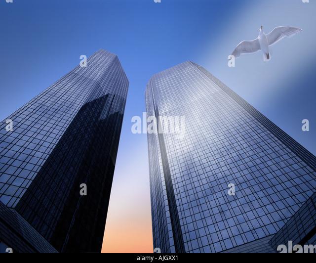 DE - HESSEN: Hauptsitz der Deutschen Bank in Frankfurt am Main Stockbild