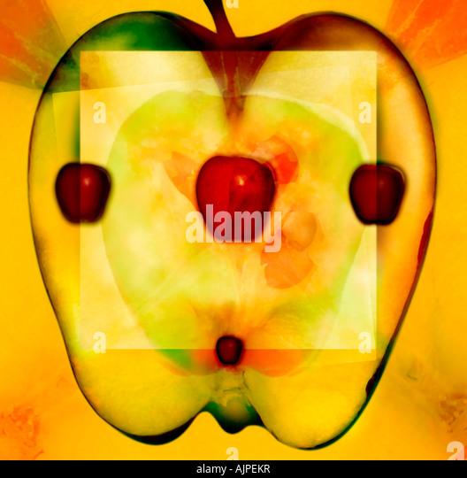 Abbildung eines Apfels Stockbild