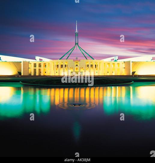 Australien. Canberra. New Parliament House. Stockbild