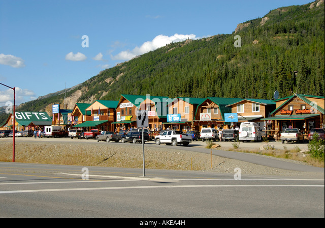 log cabin denali national park stockfotos log cabin. Black Bedroom Furniture Sets. Home Design Ideas