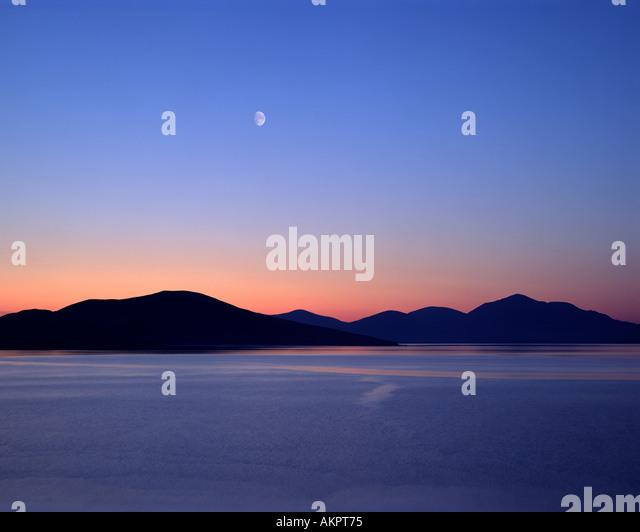 GB - WESTERN ISLES: Sound der z. von Isle of Harris gesehen Stockbild