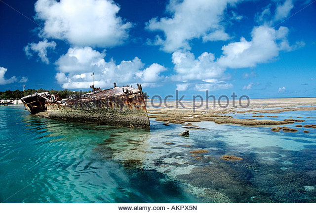 Schiffbruch auf Heron island Stockbild