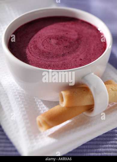 Skandinavische Berry Suppe Stockbild